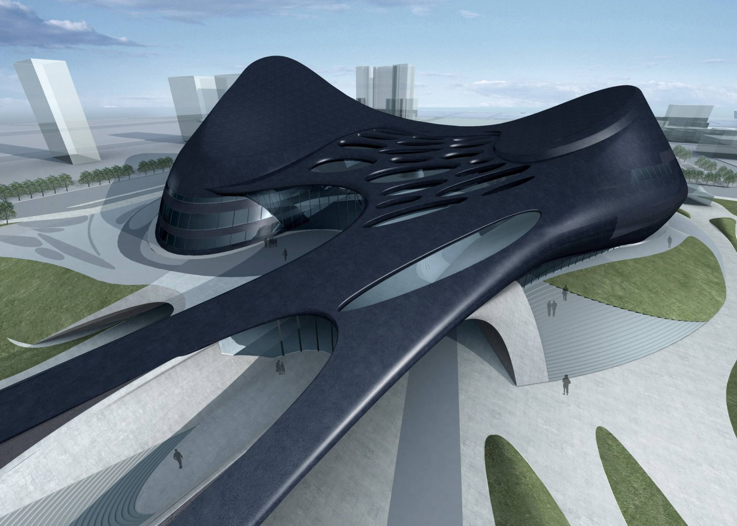 Architecture taichung metropolitan opera house by zaha for Architecture zaha hadid