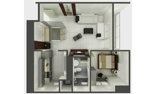 Senta Makati One Bedroom Unit Plan
