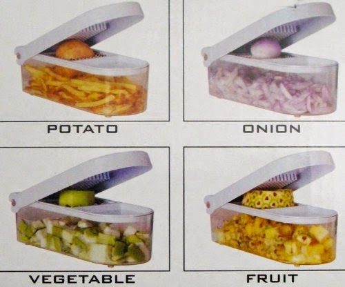 Ganesh vegetable & fruit chopper cutter showing to cut potato, onions and others