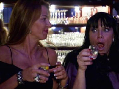 drita mob wives evil eye tattoo. A shot of Drita and Renee,
