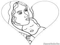 Lembar Mewarnai Gambar Hari Ibu