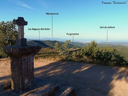 """Panoràmica cap al migdia des del Puig de la Caritat. Autor: Francesc """"Caminaire"""""""