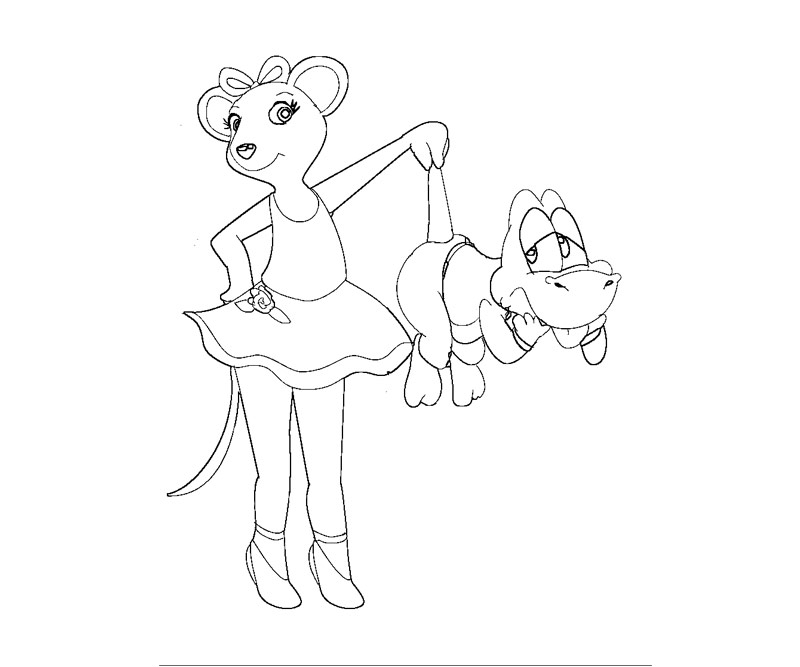 Finest Angelina Ballerina Coloring Page With Pages