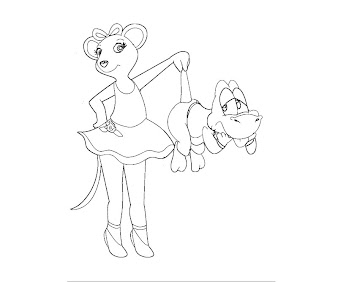 #1 Angelina Ballerina Coloring Page
