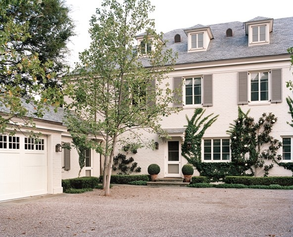 Gray house shutters the well appointed house blog White house shutter color ideas