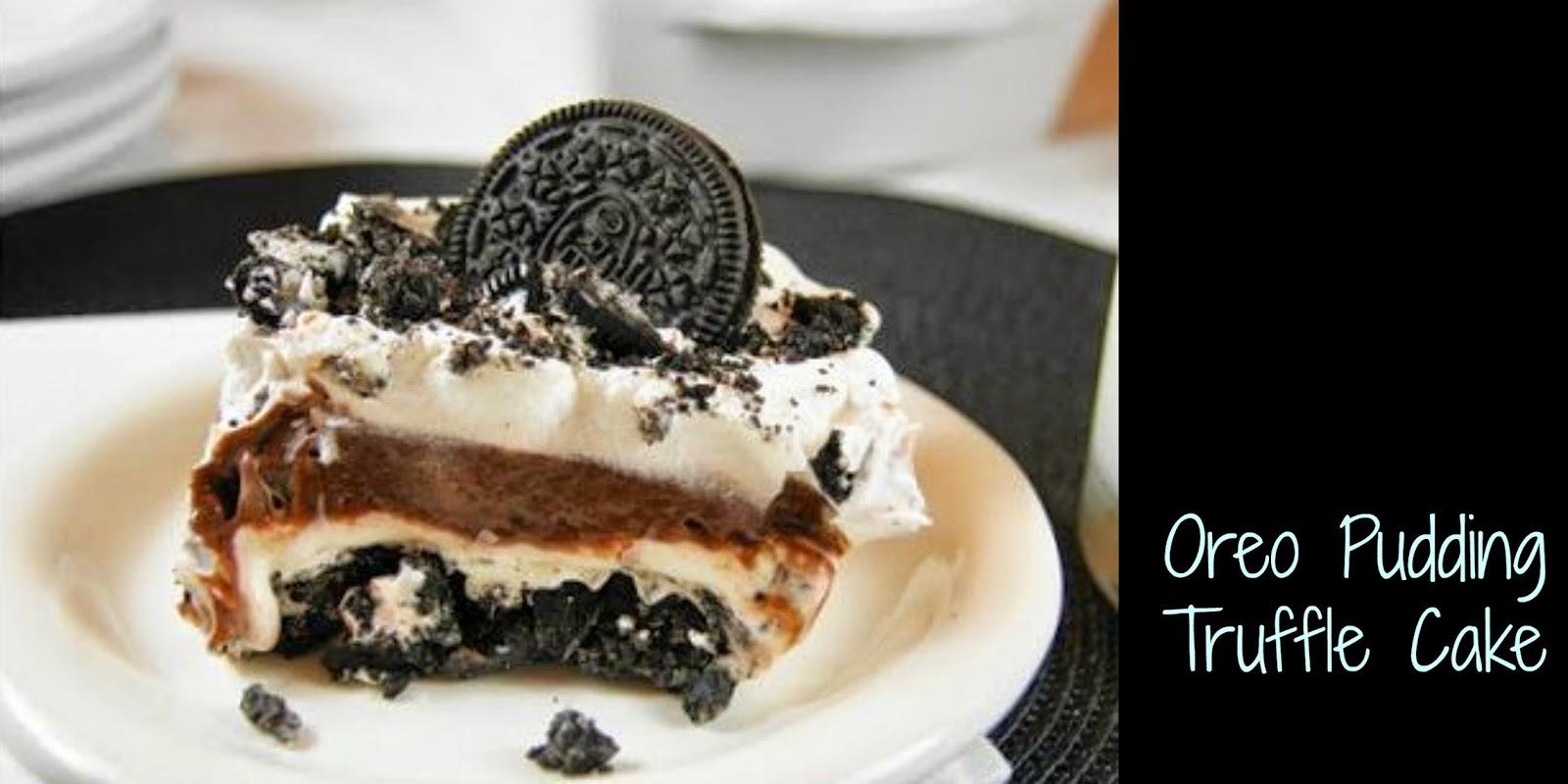 Oreo Pudding Truffle Cake