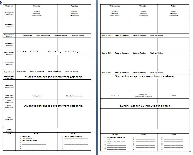 Grade 2 Happenings Lesson Plan Template Legal Size