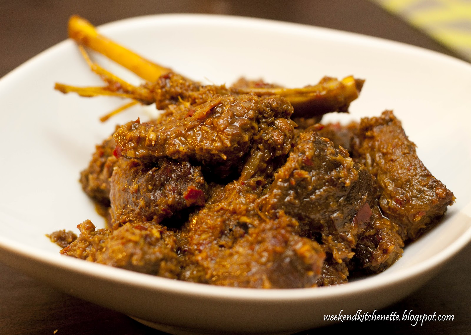 Weekend Kitchenette: Singapore Beef Rendang