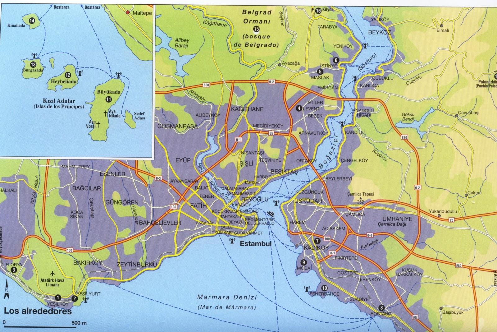 Estambul mapa - Hoteles turquia estambul ...
