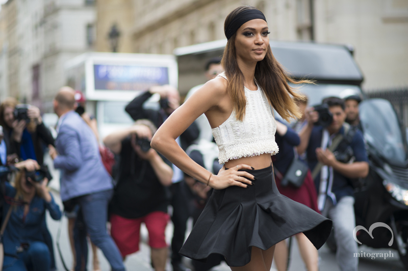 mitograph Joan Smalls After jean Paul Gaultier Paris Haute Couture Fashion Week 2014 Street Style Shimpei Mito