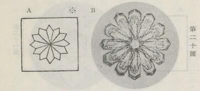 『雪華図説』の研究 模写図と顕微鏡写真と比較 第二十図