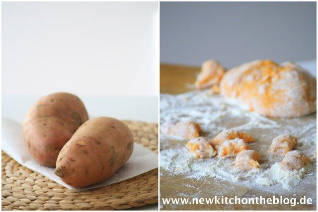 Süßkartoffel-Gnocchi mit Gorgonzolasauce und Rucola: Längst fällige Traumaheilung