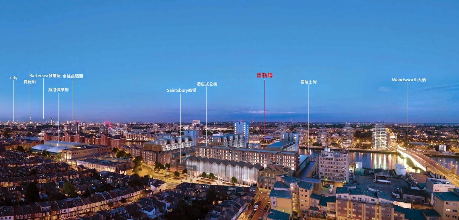 英國倫敦包租買房-富勒姆地圖