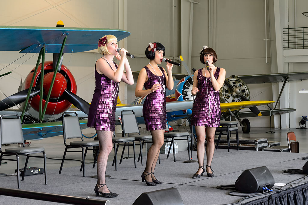 Manhattan Dolls at the Biplanes and Triplanes Air Show