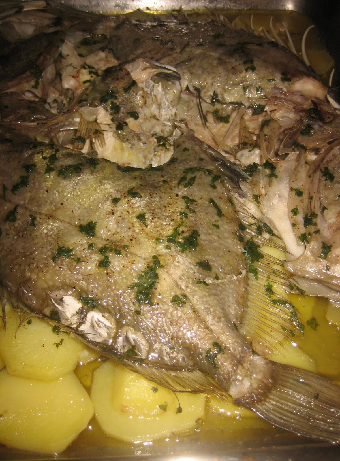 Annaferna mordiefuggi pesce san pietro al forno su letto - Pesce su letto di patate ...