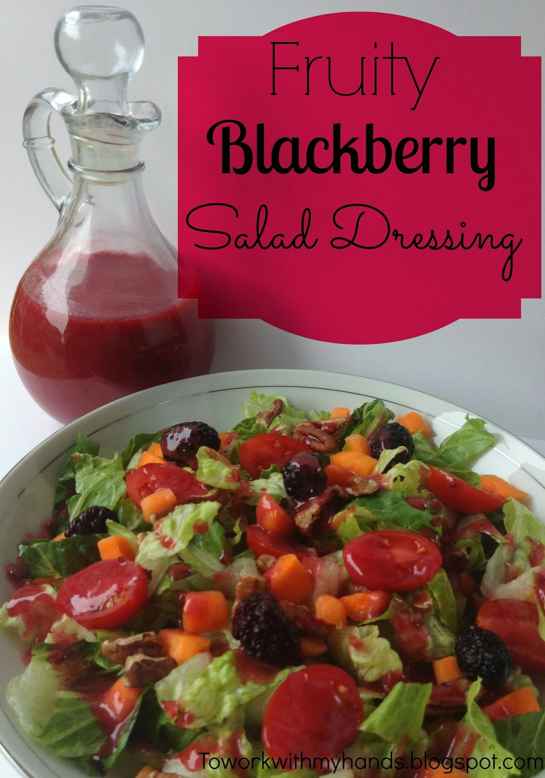 I can't imagine having some fruit around and not tossing it on a fresh salad. And what could be a better topping for a fruit-studded salad than a fruity dressing?