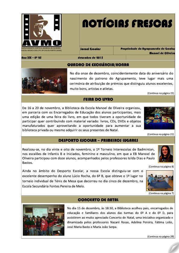 JORNAL NOTÍCIAS FRESCAS