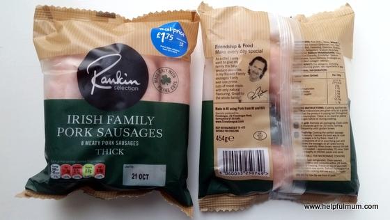 Rankin selection irish family pork sausage