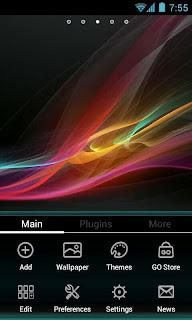 Xperia Z Go Launcher Theme Apk