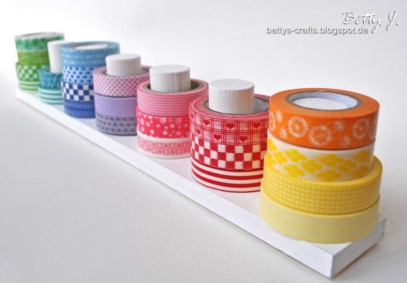 bettys crafts washi tape st nder. Black Bedroom Furniture Sets. Home Design Ideas