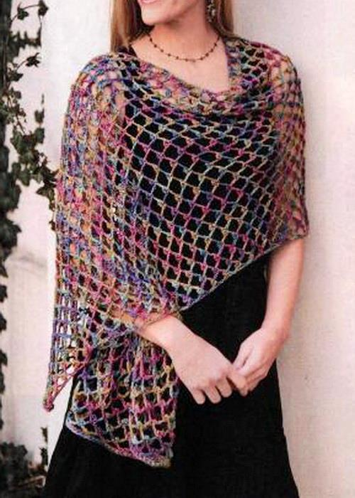 Easy Crochet Patterns For A Shawl : Stylish Easy Crochet: Crochet Lace Shawl Wrap - So Easy ...