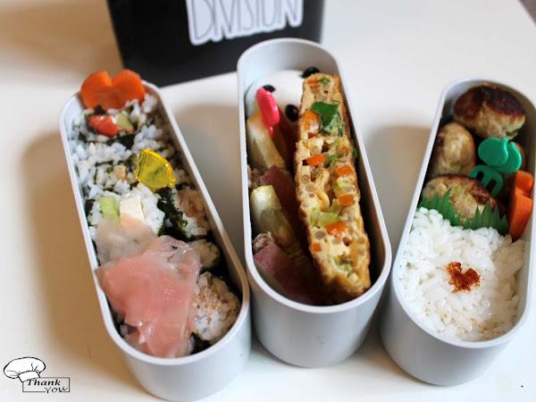 Bento 1 - Sushi, Tamagoyaki & Tofu-Tuna-Bällchen