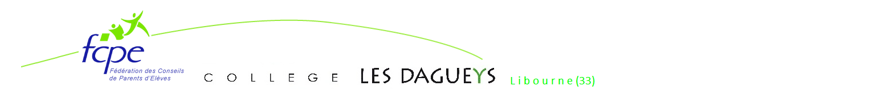 Conseil local FCPE  Collège LES DAGUEYS de Libourne