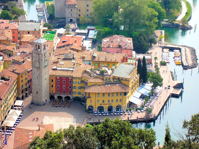 Riva del Garda or Riva is the northernmost village on Lake Garda and well known for its beaches, resorts and water-sport adventures.