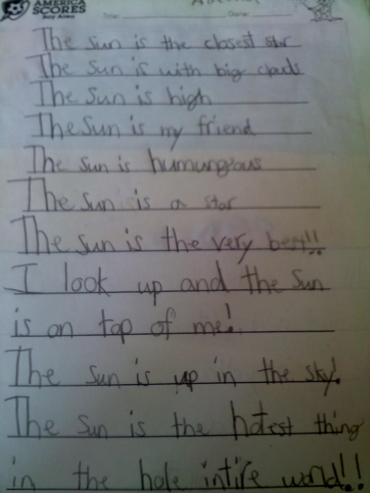 Dear Mom Poem The sun