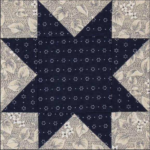 Civil War Quilts Stars In A Time Warp 8 Indigo Blue