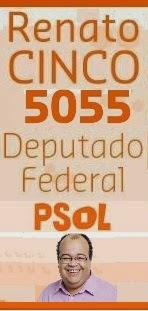 O JORNALISTA DANIEL MAZOLA VOTA RENATO CINCO 5055 DEPUTADO FEDERAL E ANDRÉ BARROS 50420 ESTADUAL
