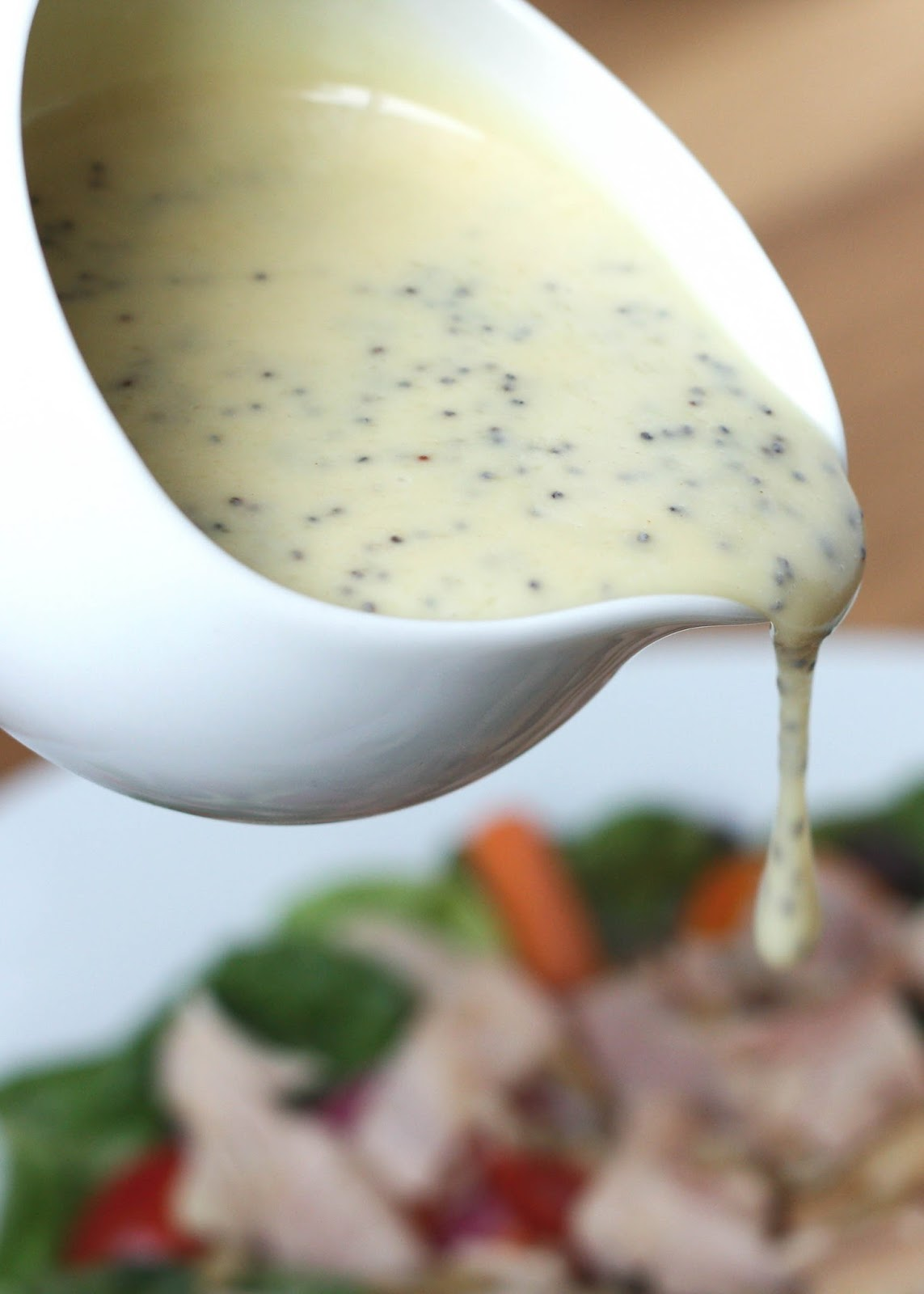 Barefeet In The Kitchen: Honey Mustard Poppyseed Salad Dressing