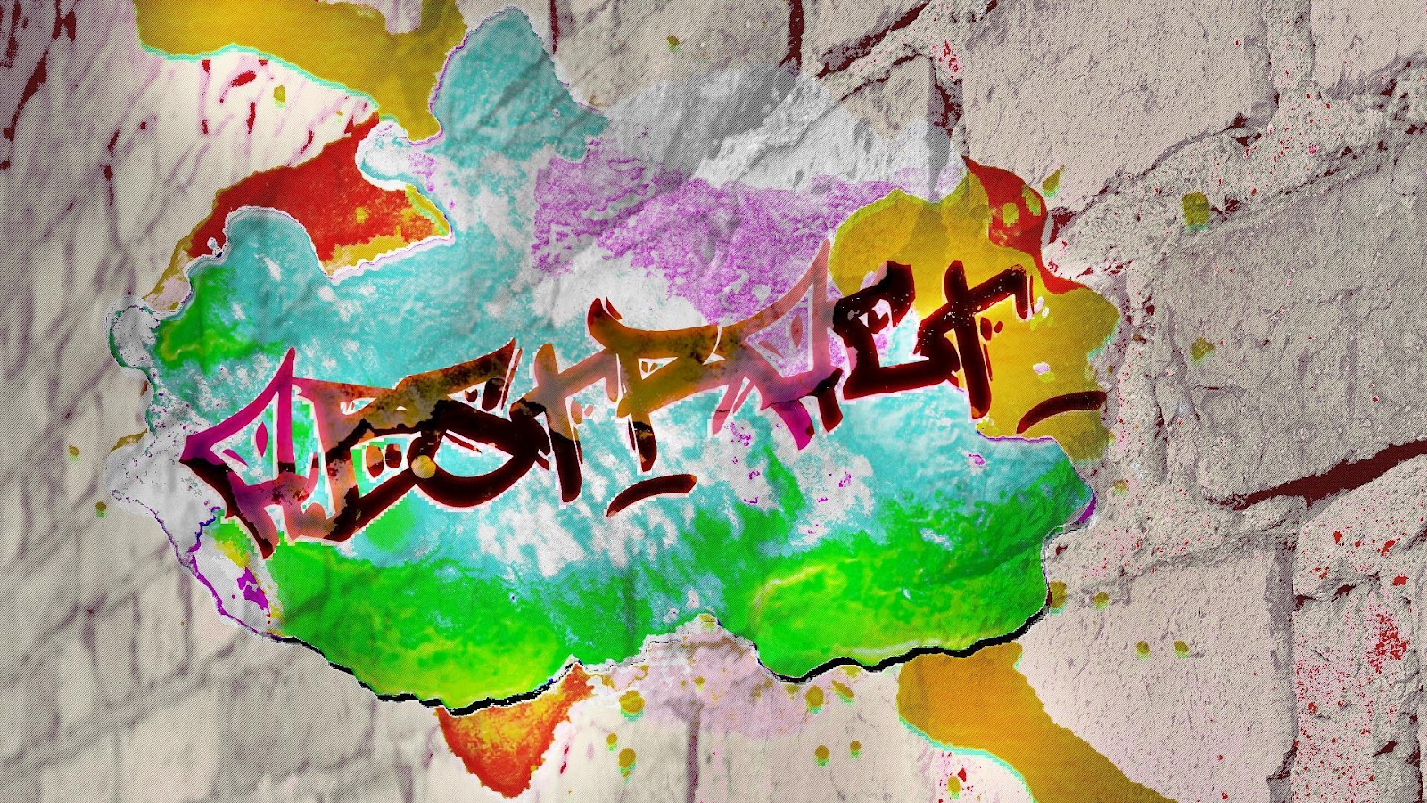 Free High Definition Wallpapers Colorful Graffiti