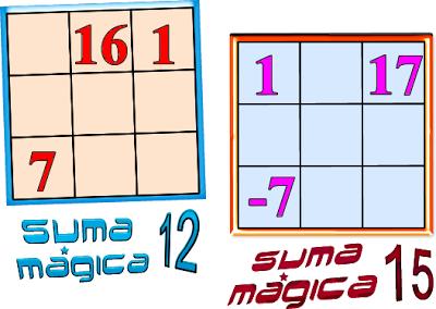 Cuadrados Mágicos, cuadrados mágicos con solución, cuadrados mágicos para niños, cuadrados mágicos para estudiantes, cuadrados magicos para secundaria
