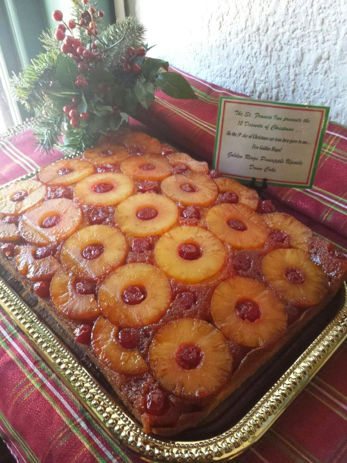 12 Desserts of Christmas - 5 Gold Rings! 3  5%2Bgold%2Brings St. Francis Inn St. Augustine Bed and Breakfast