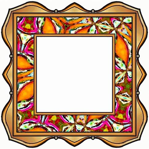 ArtbyJean - Paper Crafts: Scrapbook frames - Set 007 - Orange and ...