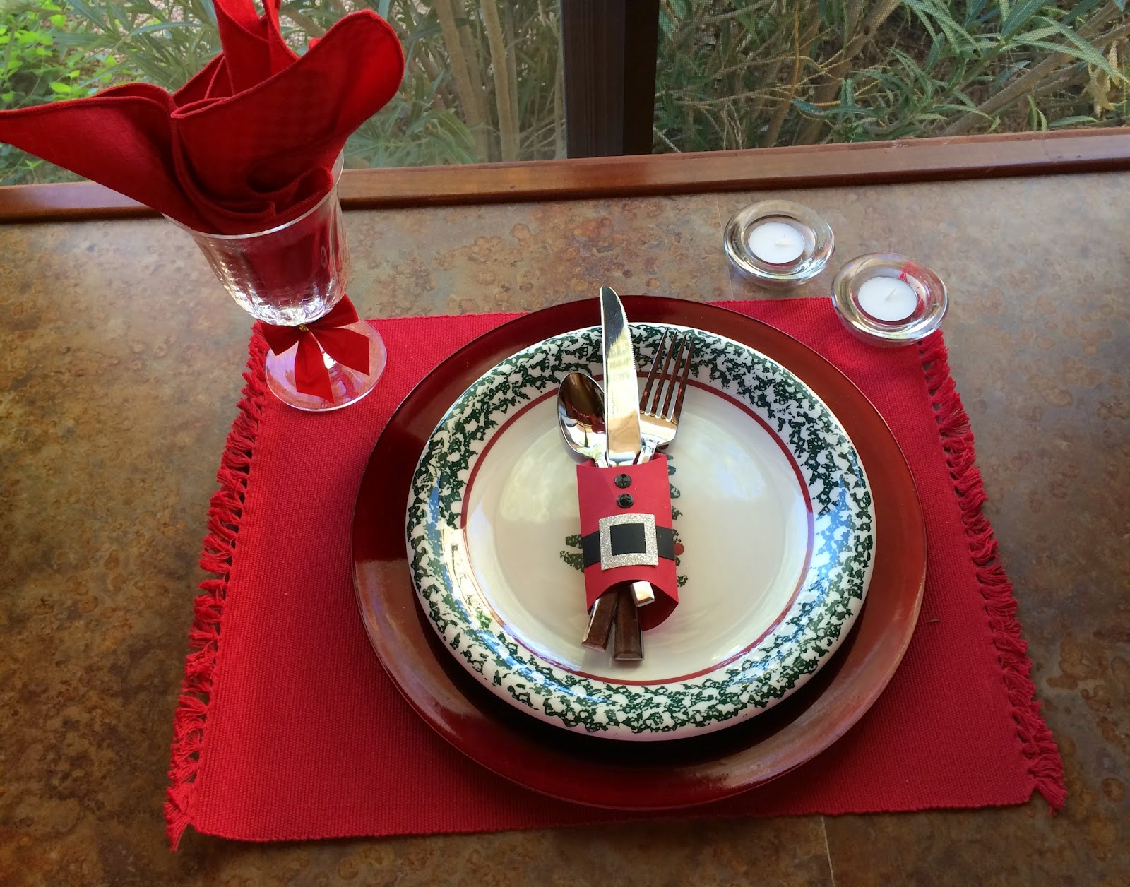 kards by kadie christmas place setting. Black Bedroom Furniture Sets. Home Design Ideas