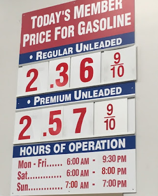 Costco gas for Nov 25, 2015 at Redwood City, CA