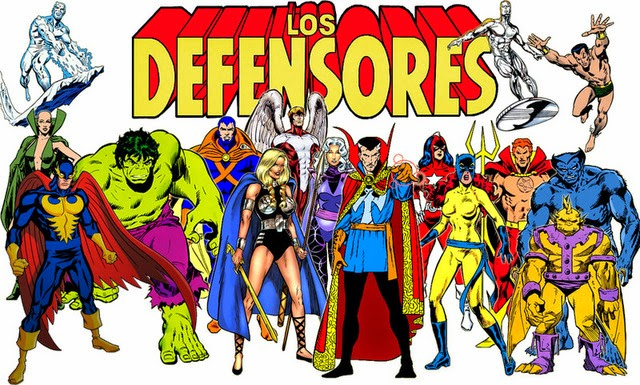 Dibujo de Los Defensores-Marvel