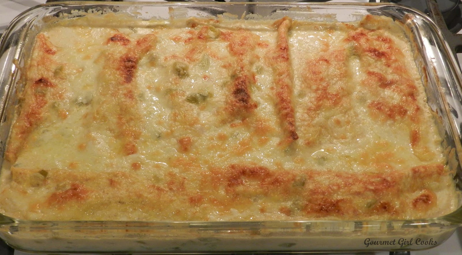 ... Girl Cooks: White Chicken Enchilada Casserole -- Low Carb & Wheat Free