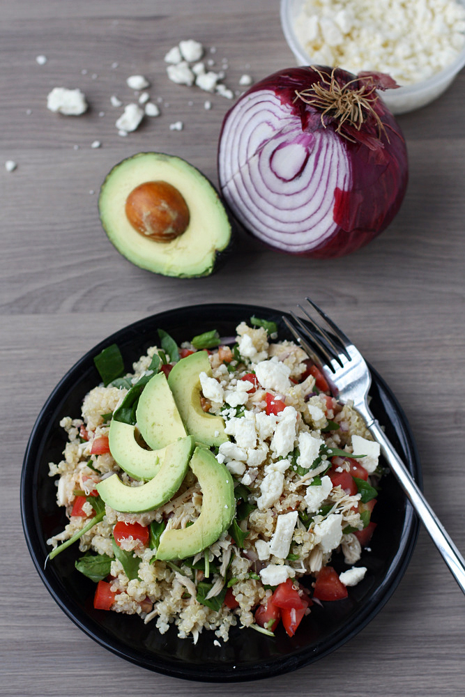 This quinoa salad is so tasty! Fresh, fast and healthy - we make this all the time.