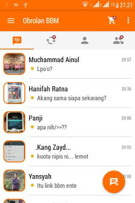 Free Download Aplikasi BBM Orange Inovation V3 base 2.9.0.45 APK