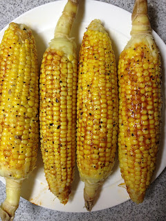 La Vegan Exquise: Mexican Chile-Lime Adobo Corn on the Cob