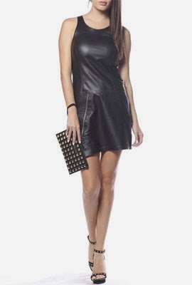 Colcci Verão 2014 Vestido de couro preto