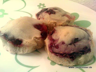 vegane Himbeer Muffins