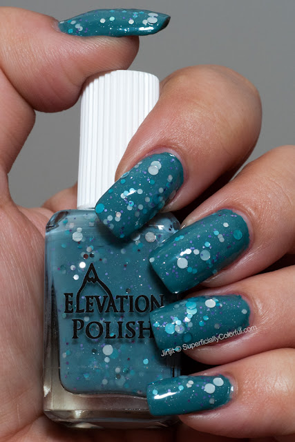 Elevation Polish - Marmolada over Joe Fresh - Teal Cyan