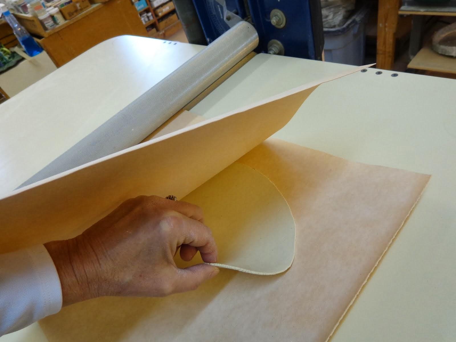 Roll porcelain thin between 2 SlabMats