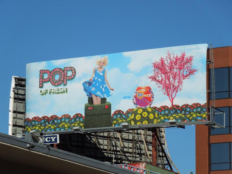 Tide pods billboard