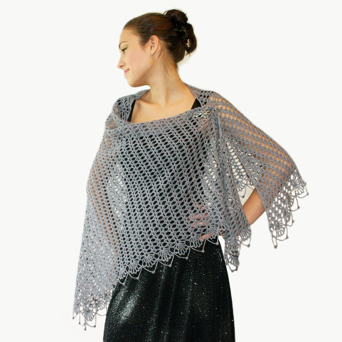 Latest Crochet Patterns : ... sew?cute design shop: new crochet pattern - wrapped in lace shawl