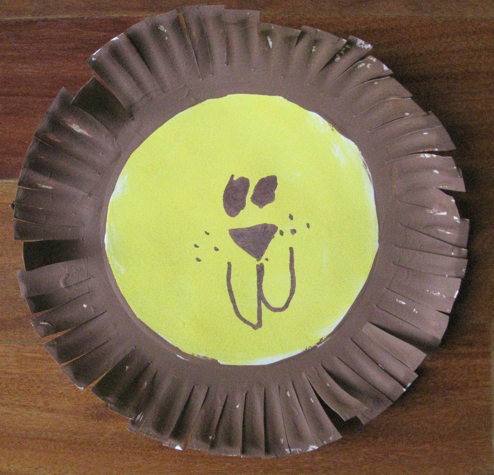 Cindy derosier my creative life paper plate lion jeuxipadfo Images